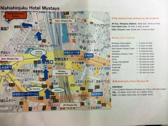 Hotel Mystays Nishi Shinjuku : How to find Nishi Shinjuku Hotel Mystays