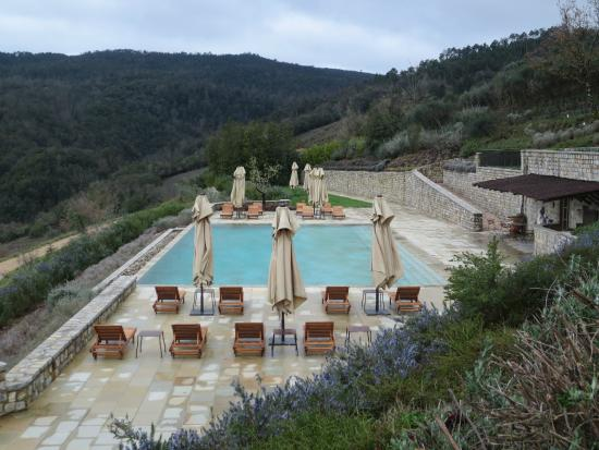Rosewood Castiglion Del Bosco : Pool with a view of beautiful Montalcino...