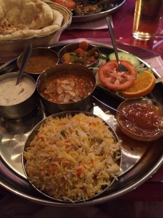 Ganesha: Vegetarian menu