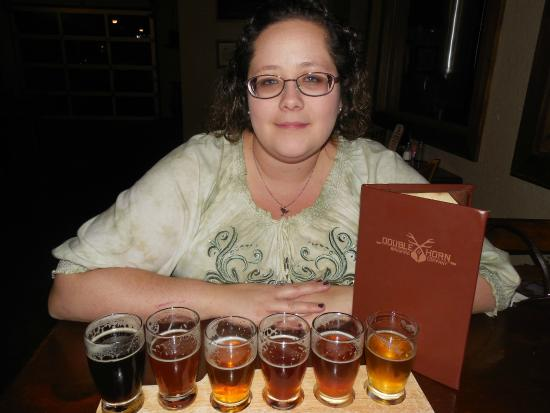 Double Horn Brewing Company: beer flight!