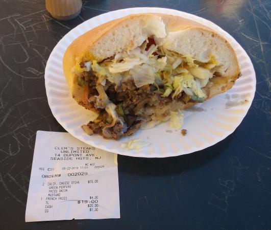 Steaks Unlimited: Mon repas avec la facture