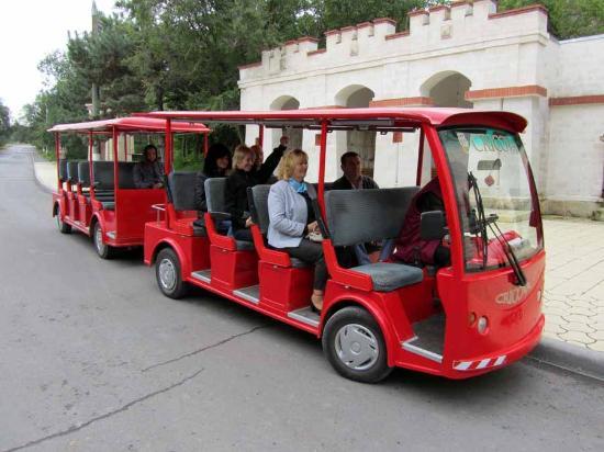 Cricova, Moldova: Our Wine Train.  Russian Spoken in the Front Car, English in the Rear One