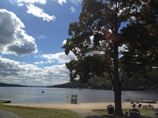 Greenwood Lake, NY: Beach passes provided at Thomas P. Morahan Waterfront Park