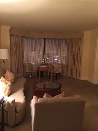 "Four Seasons Hotel Houston: ""regular"" room's sitting area"