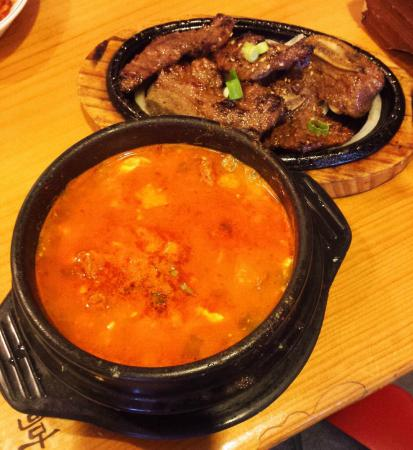 Sundubu with beef and galbi~Picture of Book Chang Dong Tofu