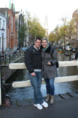 Amsterdam in World War II Walking Tour: Peter (tour guide) took our picture