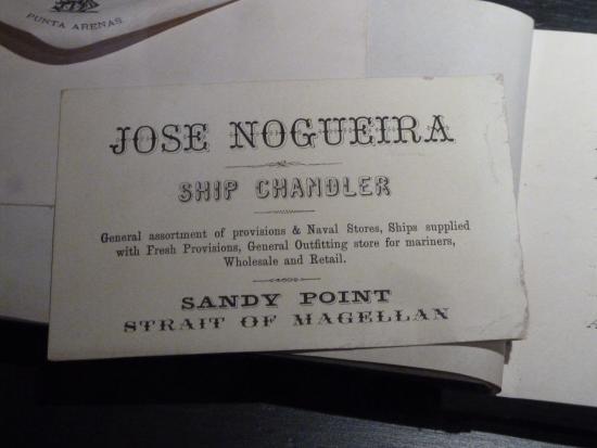Museo Regional De Magallanes: Visitenkarte des früheren Hausherrn