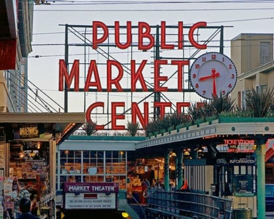Fish picture of pike place market seattle tripadvisor for Pike place fish