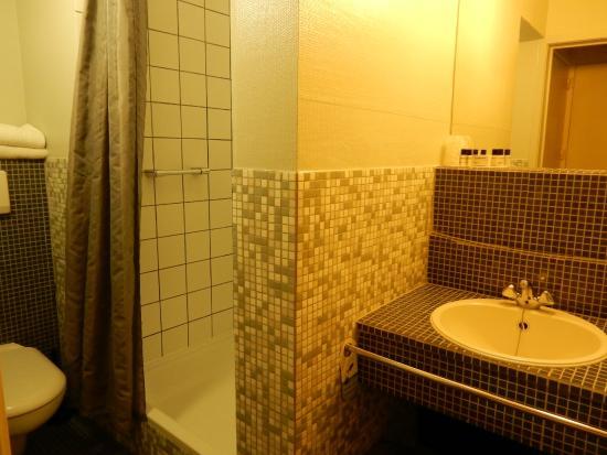 Badkamer Leuven : Badkamer met toilet, douche en wastafel - Picture of ...