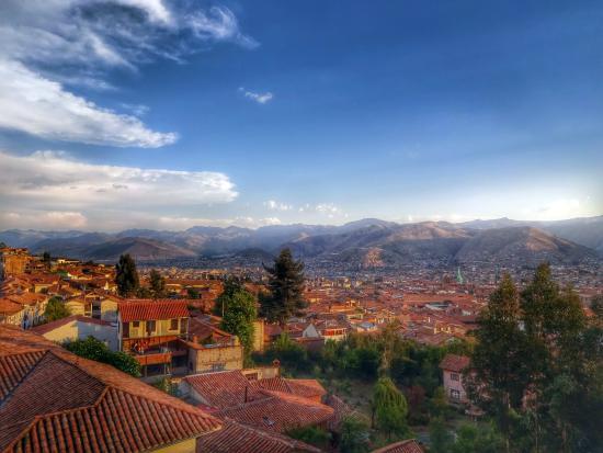 Encantada Casa Boutique Spa : Aussicht von der Dachterrasse auf Cusco