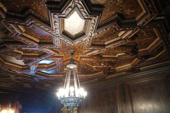 Ca d'Zan Mansion : Hand crafted plaster dining room ceiling