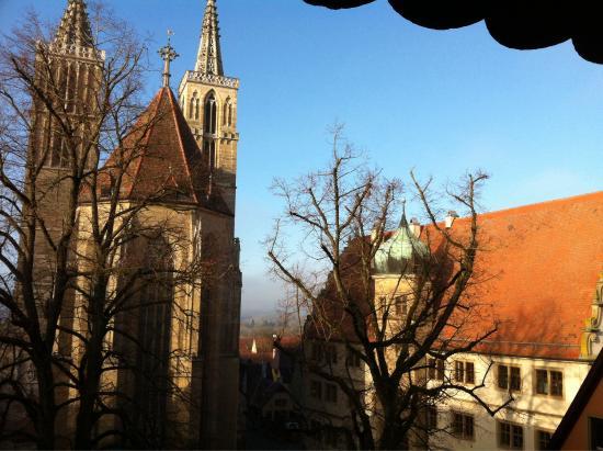Hotel Reichsküchenmeister : Vista da janela do quarto.