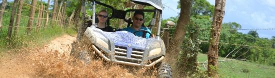 Isla Saona: Never asked if you can MASTER buggy driving on roads dirty?