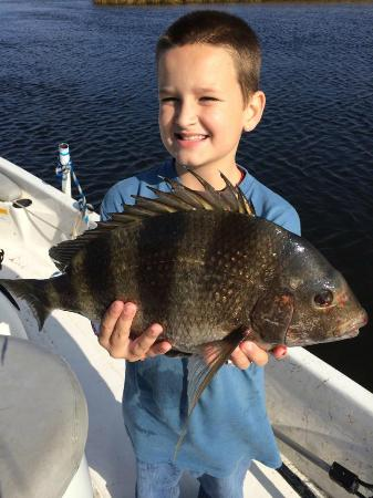 Salty Dog Charters: Carson with his Sheephead Fish