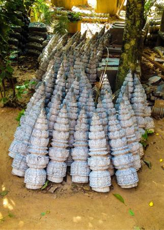 wat bo temple roof finials await placement in restorations of wat - Roof Finials