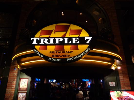Triple 7 Restaurant & Microbrewery: Front of Triple 7 Brewpub