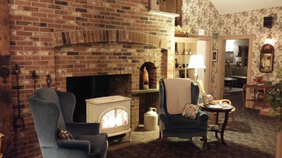 West Chesterfield, Nueva Hampshire: Lobby Portable Fireplace