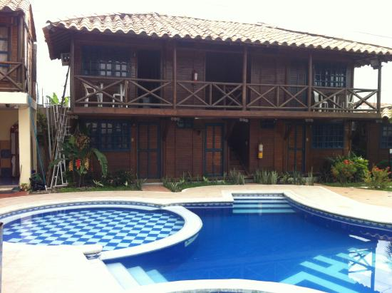 Hotel El Campanario: our bungalow by the pool.