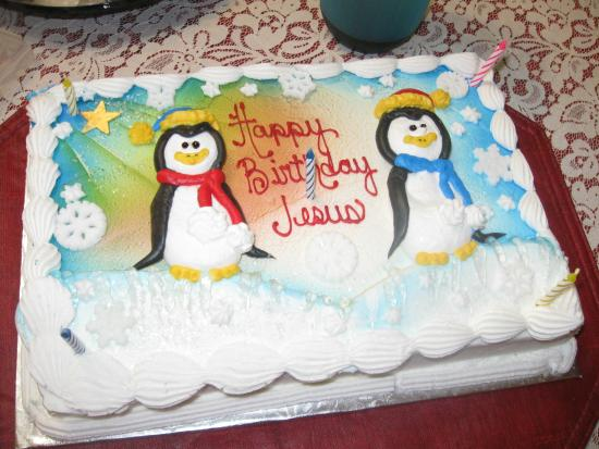 Strange Happy Birthday Jesus Cake Picture Of Mcarthurs Bakery Cafe Funny Birthday Cards Online Overcheapnameinfo