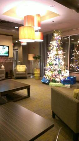 Riverwind Hotel : The Lobby decorated for the holidays.