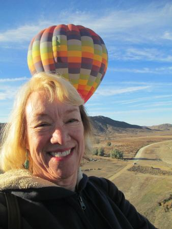 A Grape Escape Balloon Adventure : Friend Sandi treated two of us for her bucket list ride.