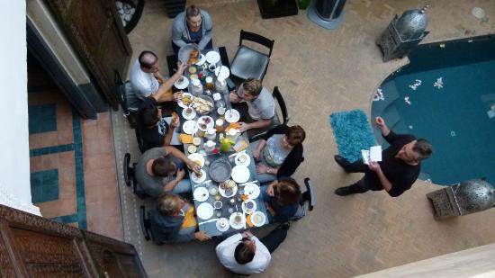 Riad Spa Sindibad: Au petit déjeuner