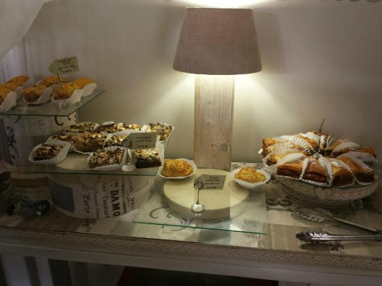 Nourish: Display of sweet pastries - highly recommended