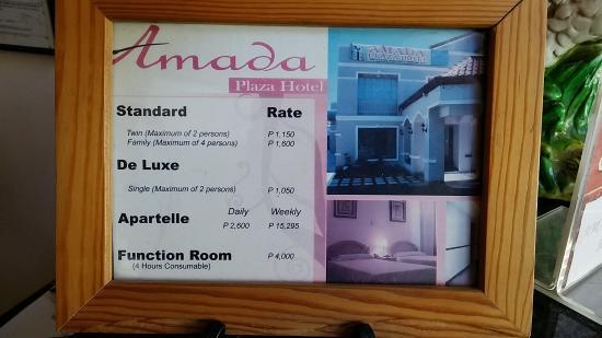 Amada Plaza Hotel Room Rates