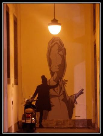 Opere di strada di Kenny Random : Via Dante (cancellata) - Padova