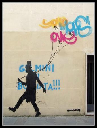 Opere di strada di Kenny Random : Via Accademia (palazzo del Liviano) - Padova