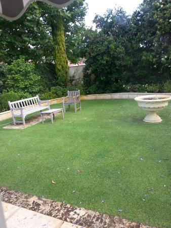 The Hollies : garden view
