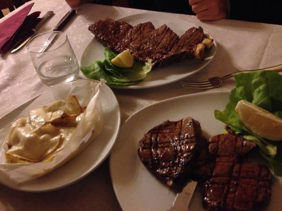 Hosteria Menelao : Bistecca e filetto! Che bontà !
