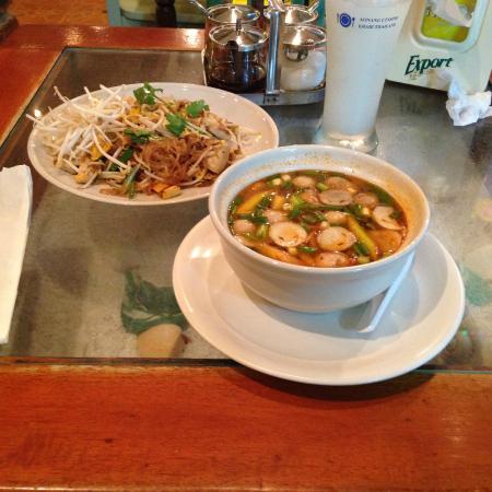 Ao Nang Cuisine: Tom Yum Soup and Pad Thai