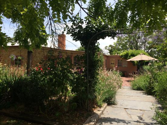 Fox Creek Wines: Walking in to the cellar door - gorgeous gardens