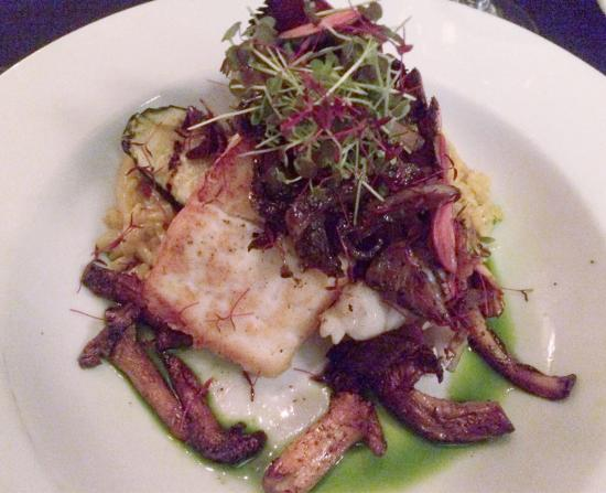 Mezzaluna: Halibut and lobster tail special