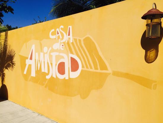 Casa de Amistad: The entrance.