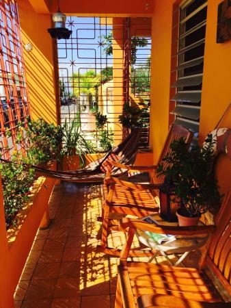 Casa de Amistad: The front porch.