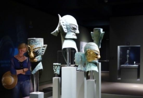 Bowers Museum of Cultural Art: masks from the Sanxingdui special exhibit (Nov. 2014)