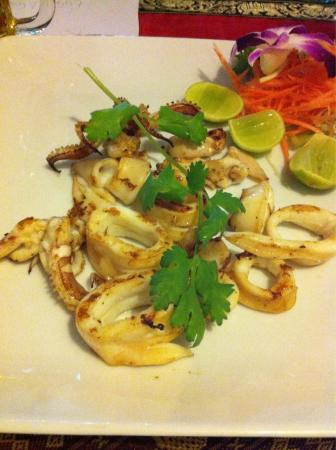 Blue Manao: Grilled squid
