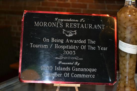 Moroni Restaurant & Tavern: En Moroni´s Restaurant