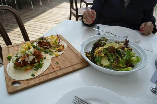 Timboon Railway Shed Distillery: Best tacos and salad I've had in a long time