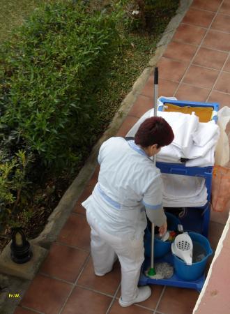 smartline Los Jazmines: twee maal in de week word het appartement schoongemaakt .