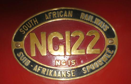 Outeniqua Transport Museum: Number Plate for 2' gauge engine