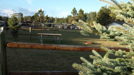 Whispering Winds Cottages: Another view of the campsite green