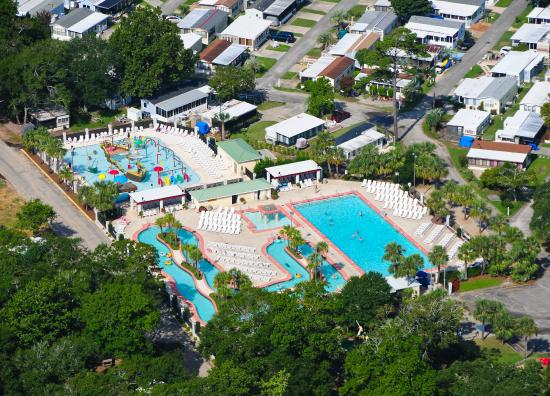 Pirateland Oceanfront Campground S On Site Water Park Pirate Oasis