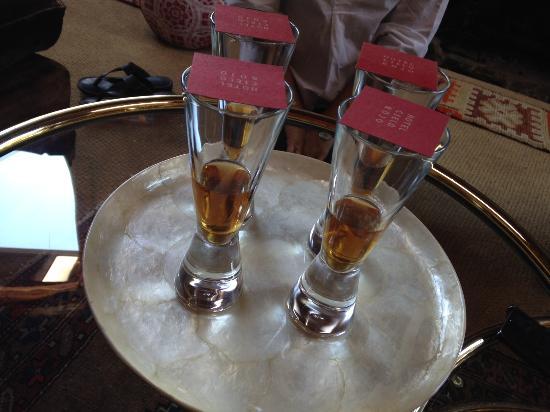 Inn Paradiso: homemade tequila tasting