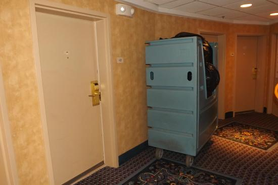 Radisson Hotel Valley Forge: Trash outside door