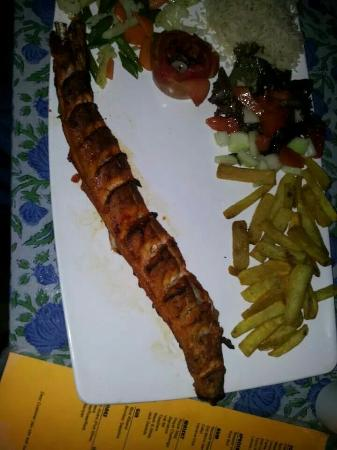 Big bamboo bar and restaurant: Perfectly fine grilled shark