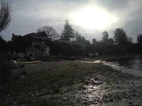 Camano Island Inn from beach