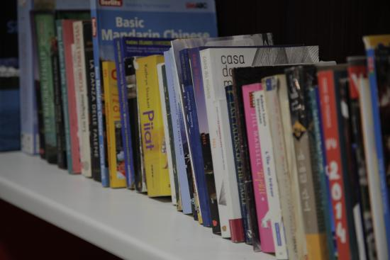 Porto Downtown Hostel: Lounge books